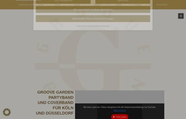 Vorschau von www.groovegarden.de, GROOVE GARDEN - Galaband und Partyband aus Köln-Bonn