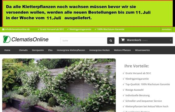 Vorschau von www.clematisonline.de, Clematis-Online