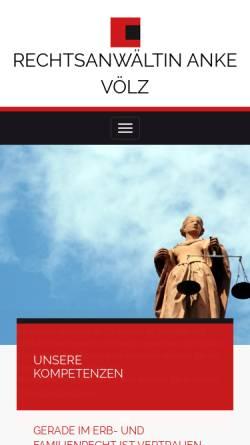 Vorschau der mobilen Webseite www.anwaelte-voelz.de, Rechtsanwälte Völz, Buchholz