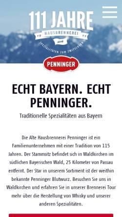 Vorschau der mobilen Webseite www.penninger.de, Penninger