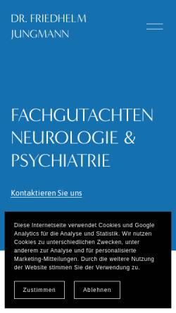 Vorschau der mobilen Webseite www.dr-jungmann.de, Dr. med. Friedhelm Jungmann