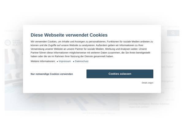 Vorschau von www.handwerksblatt.de, Handwerksblatt für Handwerk und Mittelstand