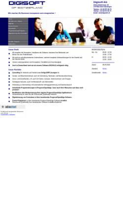 Vorschau der mobilen Webseite www.digisoft.ch, Digisoft AG