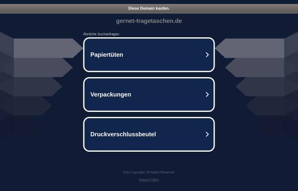 Vorschau von www.gernet-tragetaschen.de, Helmut Gernet GmbH