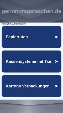 Vorschau der mobilen Webseite www.gernet-tragetaschen.de, Helmut Gernet GmbH