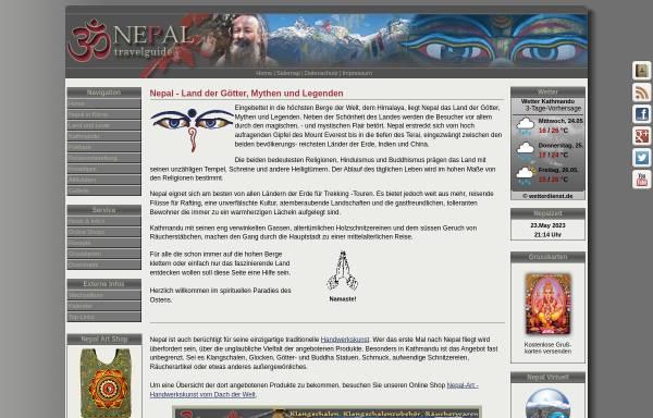 Vorschau von www.nepal-travelguide.de, Nepal Travelguide
