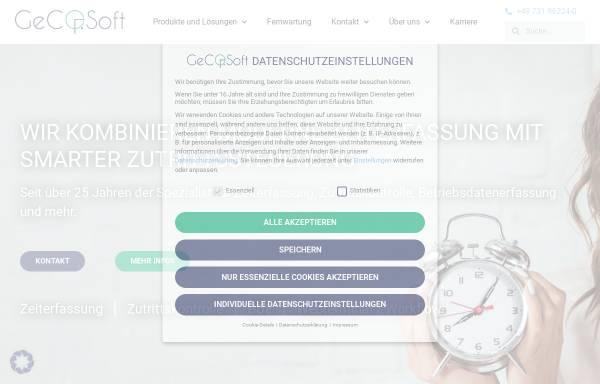 Vorschau von www.gecosoft.com, GeCOSoft mbH