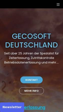 Vorschau der mobilen Webseite www.gecosoft.com, GeCOSoft mbH