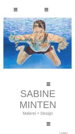 Vorschau der mobilen Webseite www.sabine-minten.de, Sabine Minten