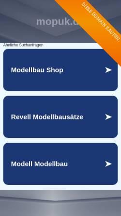 Vorschau der mobilen Webseite www.mopuk.de, mopuk.de