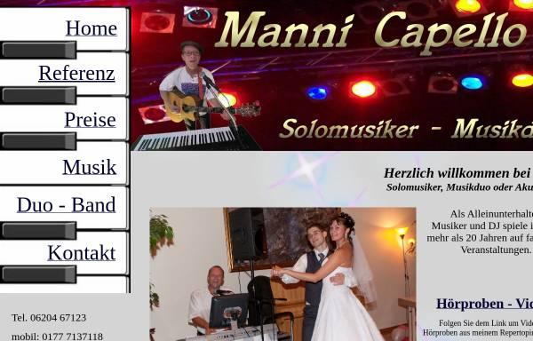 Vorschau von www.manni-capello.de, Manni aus Mannheim