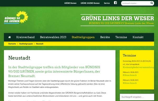 Vorschau von www.gruene-neustadt.de, Stadtteilgruppe Neustadt - Grüne Bremen Links der Weser