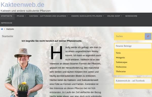 Vorschau von www.kakteenweb.de, Kakteenweb.de - Das Kakteen-Portal