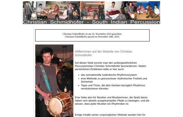 Vorschau von www.ziz.name, Christian Schmidhofer, südindische Percussion