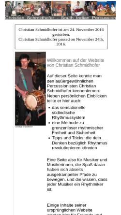 Vorschau der mobilen Webseite www.ziz.name, Christian Schmidhofer, südindische Percussion