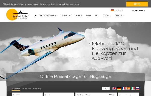 Vorschau von www.aviation-broker.com, Business Jet