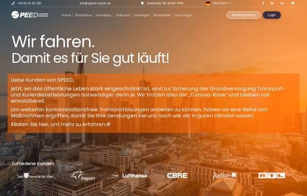 Vorschau von www.frankfurt-kurierdienst.de, Speed Courier-Service GmbH