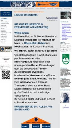 Vorschau der mobilen Webseite www.frankfurt-kurierdienst.de, Speed Courier-Service GmbH