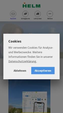 Vorschau der mobilen Webseite helm-software.de, Helm Agrarsoftware