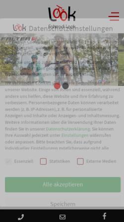 Vorschau der mobilen Webseite www.fahrrad-look.de, Fahrrad Look in Münster
