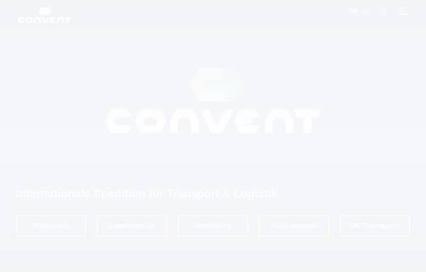 Vorschau von www.conventgmbh.de, Convent Spedition GmbH - Transport- und Logistikunternehmen