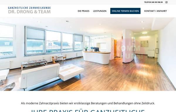 Vorschau von www.zahnarzthamburg.com, Angstfreie Zahnbehandlung - Praxis Dr. Drong