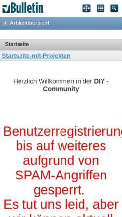 Vorschau der mobilen Webseite diy-community.de, DIY Community