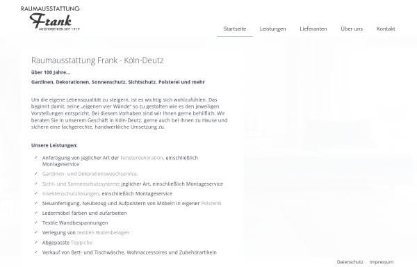 Vorschau von raumausstattung-frank-koeln.de, Raumausstattung Frank