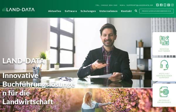Vorschau von www.landdata.de, Land-Data GmbH