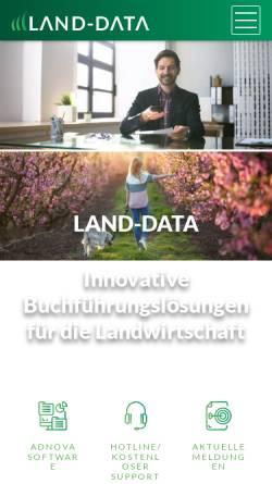 Vorschau der mobilen Webseite www.landdata.de, Land-Data GmbH