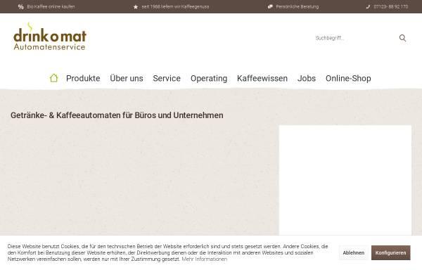 Vorschau von www.drinkomat.de, drink o mat (Verpflegungs-) Automatenvertrieb GmbH