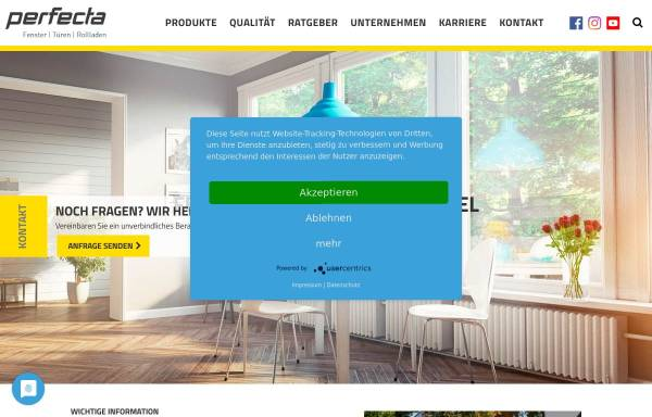 Vorschau von www.perfecta-fenster.de, Wohnungstüren renovieren und sanieren mit perfecta Fenster