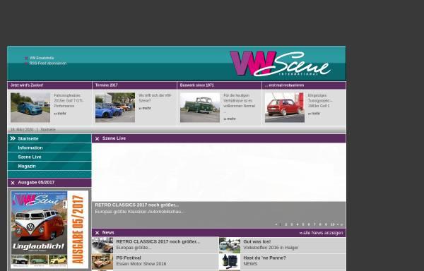 Vorschau von www.vw-scene.de, VW SCENE International - print und online Magazin für alle VW Fans