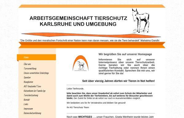 Vorschau von www.agtierschutz.de, AG Tierschutz und Begegnungsstätte Mensch - Hund