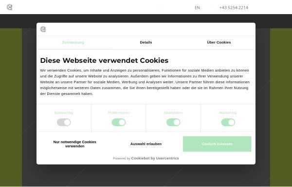 Vorschau von www.gruener-soelden.com, Alpengasthof Grüner