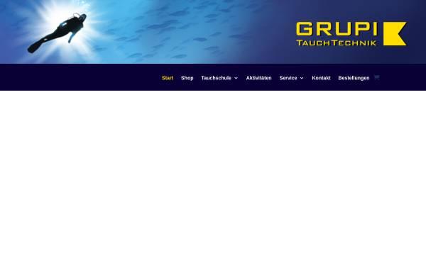 Vorschau von www.tauchshop-grupi.de, GRUPI's Tauchshop