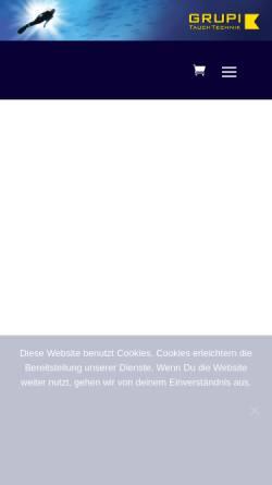 Vorschau der mobilen Webseite www.tauchshop-grupi.de, GRUPI's Tauchshop