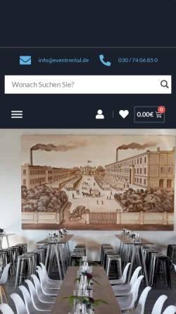 Vorschau der mobilen Webseite www.allesfuerihreparty.de, Alles für Ihre Party H & K GmbH Berlin