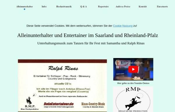 Vorschau von www.alleinunterhalter-saarland.de, Entertainer Ralph Rinas aus dem Saarland
