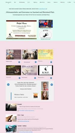 Vorschau der mobilen Webseite www.alleinunterhalter-saarland.de, Entertainer Ralph Rinas aus dem Saarland