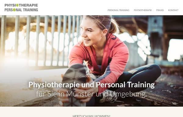 Vorschau von www.CarolaHoltmeier.de , Personal Trainer Carola Holtmeier aus Münster