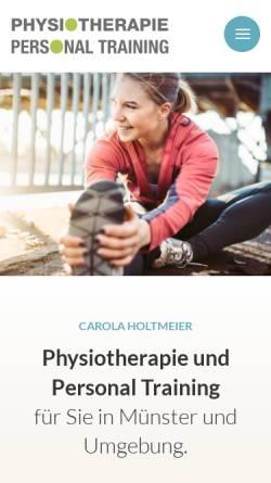 Vorschau der mobilen Webseite www.CarolaHoltmeier.de , Personal Trainer Carola Holtmeier aus Münster