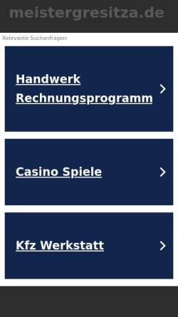 Vorschau der mobilen Webseite www.meistergresitza.de, Dachdeckerei Jochen Gresitza und Handels GmbH