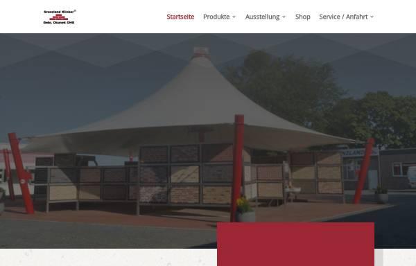 Vorschau von www.fliesen-klinker.de, Grenzland Klinker Gebr. Okunek OHG