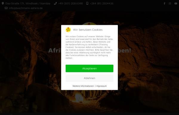 Vorschau von www.buschmann-safaris.de, Buschmann Safaris
