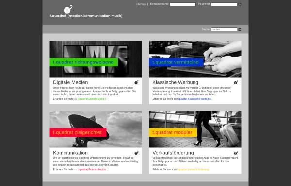Vorschau von www.agentur-tquadrat.de, t.quadrat [medien.kommunikation.musik]