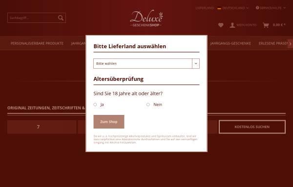 Vorschau von www.geschenkshop-deluxe.de, Geschenkeshop Deluxe