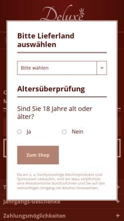 Vorschau der mobilen Webseite www.geschenkshop-deluxe.de, Geschenkeshop Deluxe