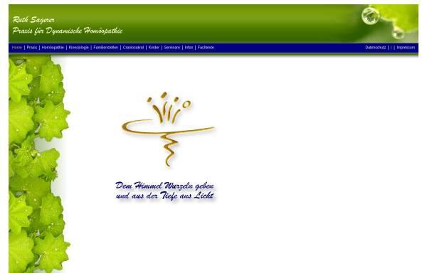 Vorschau von www.ruthsagerer.de, Praxis für Dynamische Homöopathie - Ruth Sagerer, Heilpraktikerin