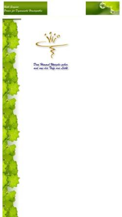 Vorschau der mobilen Webseite www.ruthsagerer.de, Praxis für Dynamische Homöopathie - Ruth Sagerer, Heilpraktikerin